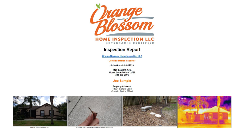 Orange Blossom home Inspection LLC master home inspector  sample reports 1